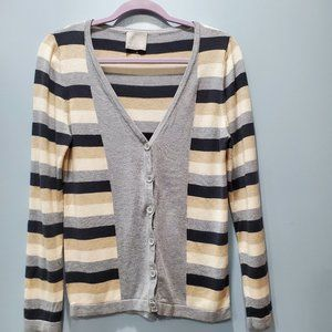 Evolution by Cyrus Striped Cardigan Sweater P061